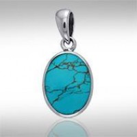 Oval Turquoise Cabochon Pendant