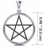 Black Pentagram Sterling Silver Pendant at Jewelry Gem Shop,  Sterling Silver Jewerly | Gemstone Jewelry | Unique Jewelry