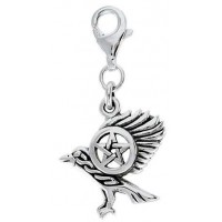 Raven Pentacle Mystical Clip On Charm