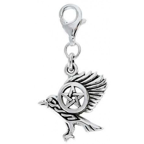 Raven Pentacle Mystical Clip On Charm at Jewelry Gem Shop,  Sterling Silver Jewerly | Gemstone Jewelry | Unique Jewelry
