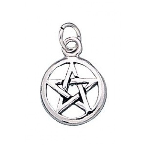 Pentacle Sterling Silver Charm at Jewelry Gem Shop,  Sterling Silver Jewerly | Gemstone Jewelry | Unique Jewelry