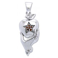Pentagram Apple Witches Pendant Jewelry Gem Shop  Sterling Silver Jewerly | Gemstone Jewelry | Unique Jewelry