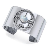 Chalice Well Rainbow Moonstone Cuff Bracelet