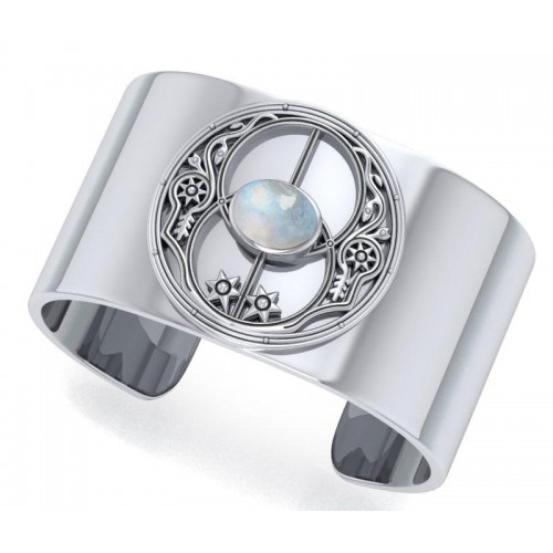 Chalice Well Rainbow Moonstone Cuff Bracelet at Jewelry Gem Shop,  Sterling Silver Jewerly | Gemstone Jewelry | Unique Jewelry
