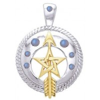 Pentacle Gemstone Sterling and Gold Vermeil Pendant Jewelry Gem Shop  Sterling Silver Jewerly | Gemstone Jewelry | Unique Jewelry