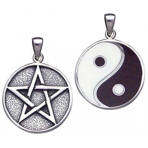 Reversible Pentacle and Yin Yang Pendant