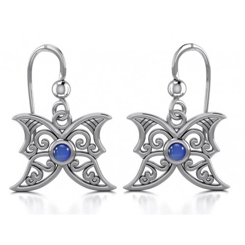 Sapphire Blue Moon Silver Earrings at Jewelry Gem Shop,  Sterling Silver Jewerly | Gemstone Jewelry | Unique Jewelry