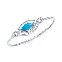 Silver Filigree Bracelet with Turquoise Gemstone
