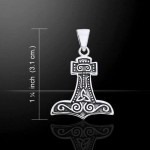 Petite Thors Hammer Mjolnir Pendant at Jewelry Gem Shop,  Sterling Silver Jewerly | Gemstone Jewelry | Unique Jewelry