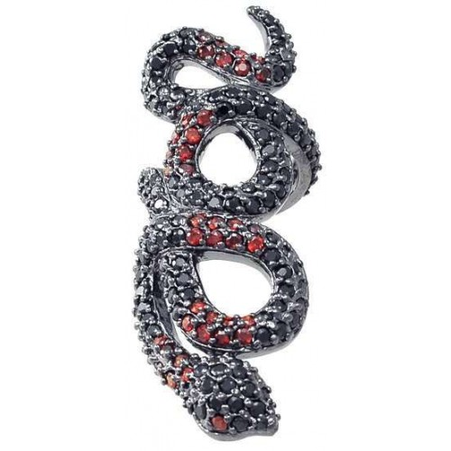 Snake Ring in Red and Black at Jewelry Gem Shop,  Sterling Silver Jewerly | Gemstone Jewelry | Unique Jewelry