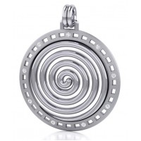 Avalon Spiral Silver Pendant Jewelry Gem Shop  Sterling Silver Jewerly | Gemstone Jewelry | Unique Jewelry