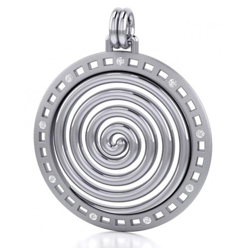 Avalon Spiral Silver Pendant at Jewelry Gem Shop,  Sterling Silver Jewerly | Gemstone Jewelry | Unique Jewelry