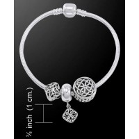 Celtic Knot Sterling Silver Bead Bracelet Jewelry Gem Shop  Sterling Silver Jewerly | Gemstone Jewelry | Unique Jewelry