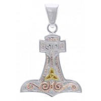 Thors Hammer 3 Tone Mjolnir Pendant Jewelry Gem Shop  Sterling Silver Jewerly | Gemstone Jewelry | Unique Jewelry