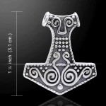 Thors Hammer Mjolnir Pendant at Jewelry Gem Shop,  Sterling Silver Jewerly | Gemstone Jewelry | Unique Jewelry