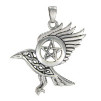 Raven Pentacle Sterling Silver Pendant