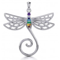 Dragonfly Charm Holder with Gemstones Jewelry Gem Shop  Sterling Silver Jewerly | Gemstone Jewelry | Unique Jewelry