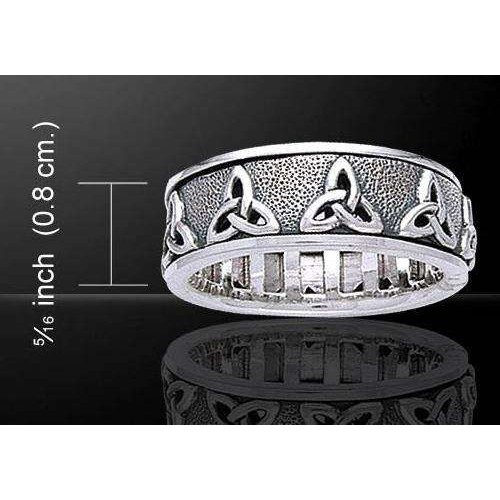 Triquetra Celtic Knot Sterling Silver Fidget Spinner Ring at Jewelry Gem Shop,  Sterling Silver Jewerly   Gemstone Jewelry   Unique Jewelry