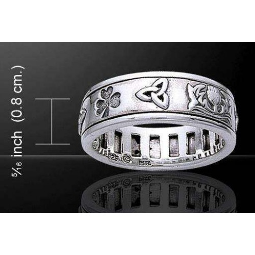 Irish Pride Sterling Silver Fidget Spinner Ring at Jewelry Gem Shop,  Sterling Silver Jewerly | Gemstone Jewelry | Unique Jewelry