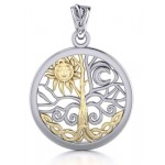 Tree of Life Sun and Moon Pendant at Jewelry Gem Shop,  Sterling Silver Jewerly | Gemstone Jewelry | Unique Jewelry