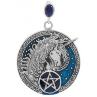 Celtic Unicorn Pentacle Laurie Cabot Pendant