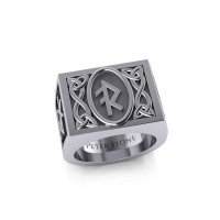 The Fifth Power of Rune Viking Mens Signet Ring