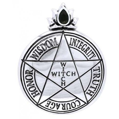 Witch Virtues Pentagram Sterling Silver Pendant at Jewelry Gem Shop,  Sterling Silver Jewerly | Gemstone Jewelry | Unique Jewelry