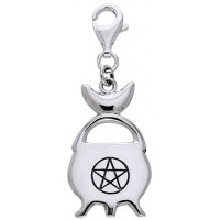 Witches Cauldron Sterling Silver Clip Charm
