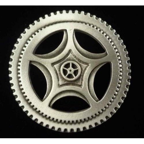 Steampunk Clock Gear Large Pewter Brooch Pin at Jewelry Gem Shop,  Sterling Silver Jewerly | Gemstone Jewelry | Unique Jewelry