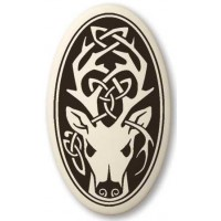 Stag - The Horned God Oval Porcelain Necklace Jewelry Gem Shop  Sterling Silver Jewerly | Gemstone Jewelry | Unique Jewelry