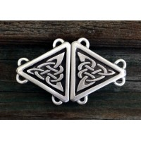 Celtic Triangular Knot Small Cloak Clasp Jewelry Gem Shop  Sterling Silver Jewerly | Gemstone Jewelry | Unique Jewelry