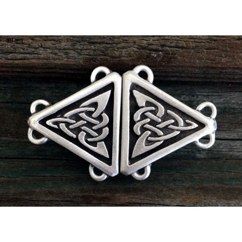 Celtic Triangular Knot Small Cloak Clasp at Jewelry Gem Shop,  Sterling Silver Jewerly | Gemstone Jewelry | Unique Jewelry