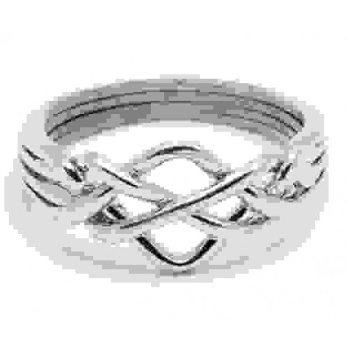 4 Band Open Turkish Puzzle Ring at Jewelry Gem Shop,  Sterling Silver Jewerly | Gemstone Jewelry | Unique Jewelry