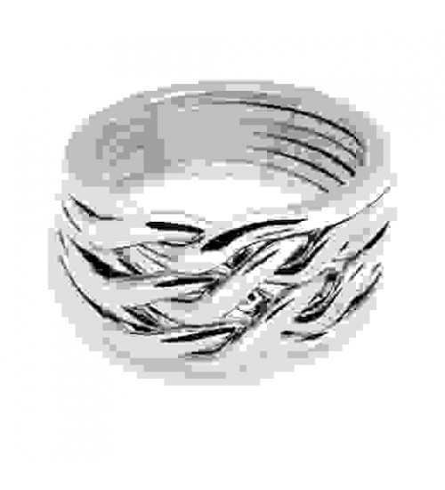 6 Band Heavy Chain Puzzle Ring at Jewelry Gem Shop,  Sterling Silver Jewerly | Gemstone Jewelry | Unique Jewelry