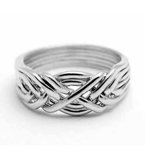6 Band Light Turkish Puzzle Ring at Jewelry Gem Shop,  Sterling Silver Jewerly | Gemstone Jewelry | Unique Jewelry