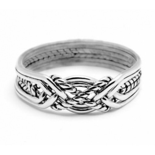 6 Band Turkish Twist Puzzle Ring at Jewelry Gem Shop,  Sterling Silver Jewerly | Gemstone Jewelry | Unique Jewelry