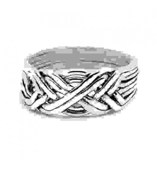 8 Band Light Turkish Puzzle Ring at Jewelry Gem Shop,  Sterling Silver Jewerly | Gemstone Jewelry | Unique Jewelry