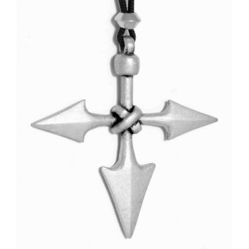 Barbarian Cross Pewter Necklace at Jewelry Gem Shop,  Sterling Silver Jewerly | Gemstone Jewelry | Unique Jewelry