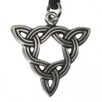 Brigid Knot Celtic Goddess Pewter Necklace