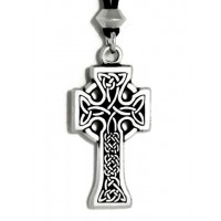 Celtic Knotwork Cross Pewter Necklace