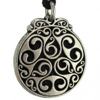 Triscele of Dana Spiral of Eternal Life Pewter Necklace