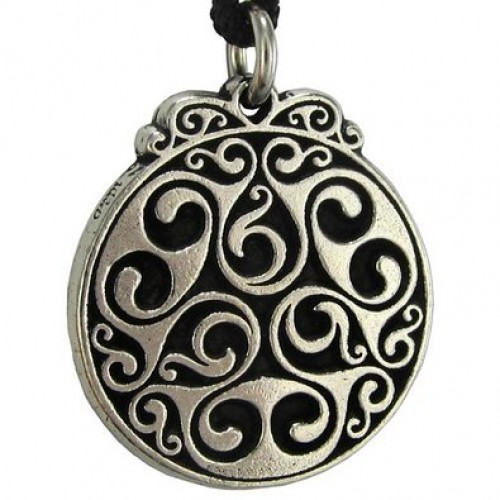 Triscele of Dana Spiral of Eternal Life Pewter Necklace at Jewelry Gem Shop,  Sterling Silver Jewerly | Gemstone Jewelry | Unique Jewelry