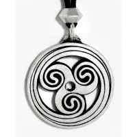Celtic Spiral Pewter Necklace
