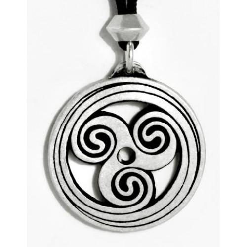 Celtic Spiral Pewter Necklace