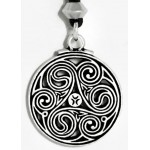 Triscele Celtic Spiral Pewter Necklace at Jewelry Gem Shop,  Sterling Silver Jewerly   Gemstone Jewelry   Unique Jewelry