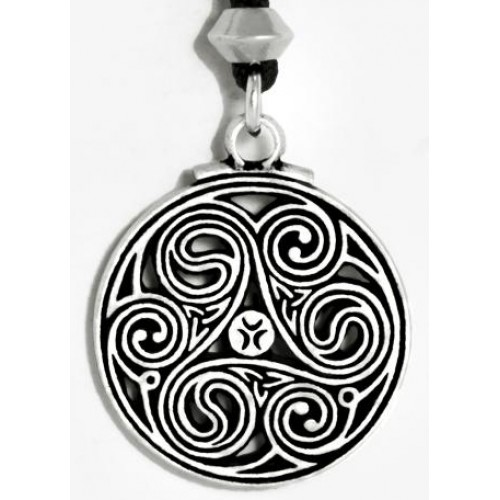 Triscele Celtic Spiral Pewter Necklace at Jewelry Gem Shop,  Sterling Silver Jewerly | Gemstone Jewelry | Unique Jewelry