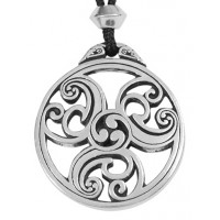 Celtic Triscele Spiral Pewter Necklace Jewelry Gem Shop  Sterling Silver Jewerly | Gemstone Jewelry | Unique Jewelry