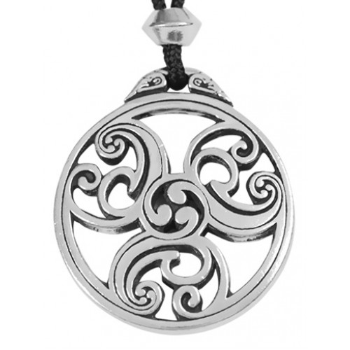 Celtic Triscele Spiral Pewter Necklace at Jewelry Gem Shop,  Sterling Silver Jewerly   Gemstone Jewelry   Unique Jewelry