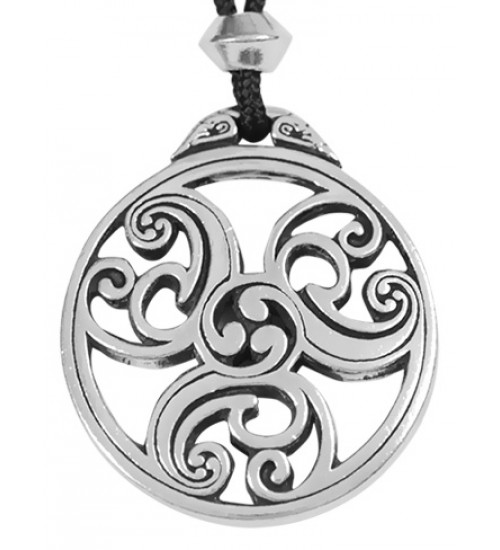 Celtic Triscele Spiral Pewter Necklace at Jewelry Gem Shop,  Sterling Silver Jewerly | Gemstone Jewelry | Unique Jewelry