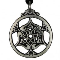 Heart Triskele Celtic Knot Pewter Necklace